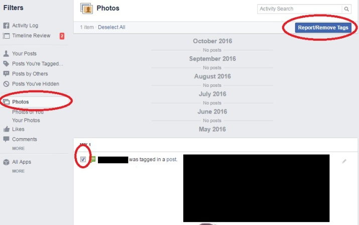 how to untag yourself from facebook photos
